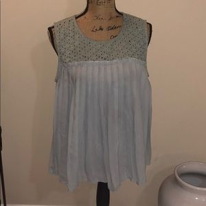 Light green maurices tank size xl